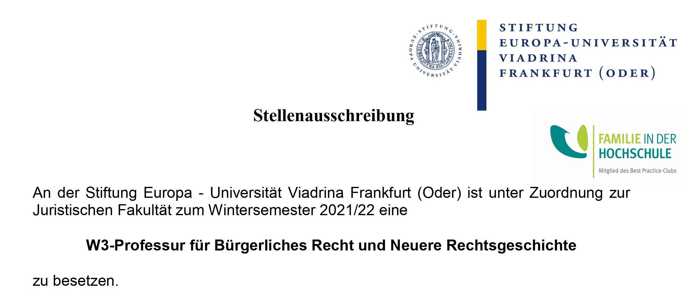 """Course Image Berufungsverfahren """"W 3 Bürgerliches Recht und Neuere Rechtsgeschichte"""""""